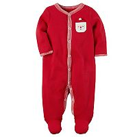 Baby Carter's Santa Chest Applique Thermal Footed Pajamas