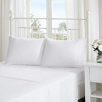 Madison Park Essentials Scalloped Eyelet Embroidered Sheet Set