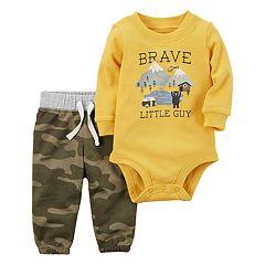 Baby Boy Carter's 'Brave Little Guy' Bodysuit & Camouflage Pants Set
