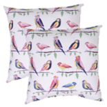 Outdoor 2 pc Reversible Throw Pillow Set
