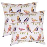 Outdoor 2-piece Reversible Throw Pillow Set
