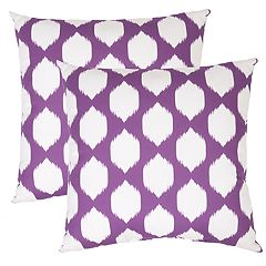 Outdoor 2 pc Reversible Oversized Throw Pillow Set