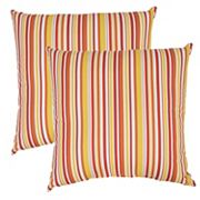 Outdoor 2 pc Reversible Oversized Throw Pillow Set