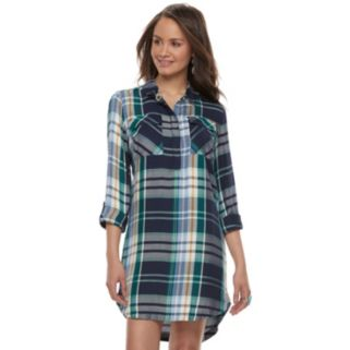 Juniors' SO® Twill Utility Shirt Dress