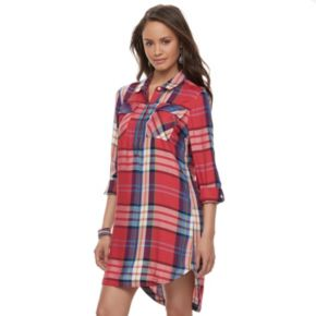 Juniors' SO® Twill Utility Shirt Dress