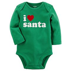 Baby Carter's Holiday 'I Heart Santa' Bodysuit