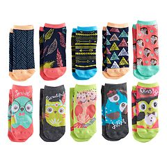 Girls 4-16 Pink Cookie 10-pk. Characters & Patterns Low Cut Socks