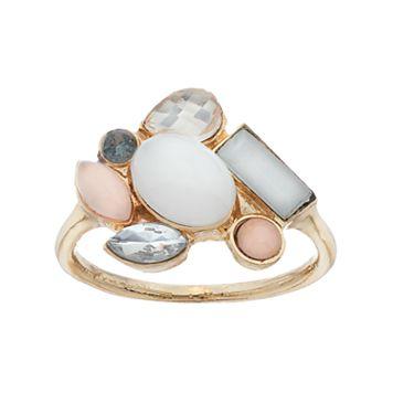 LC Lauren Conrad Stone Cluster Ring