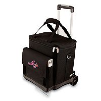 Picnic Time Atlanta Braves Cellar Insulated Wine Cooler & Hand Cart
