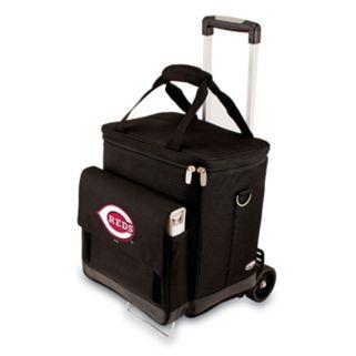 Picnic Time Cincinnati Reds Cellar Insulated Wine Cooler & Hand Cart