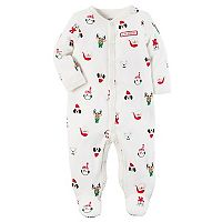 Baby Carter's Christmas Characters Footed Pajamas