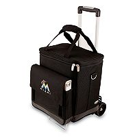Picnic Time Miami Marlins Cellar Insulated Wine Cooler & Hand Cart