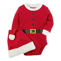 Baby Carter's Santa Suit Bodysuit & Santa Hat Set