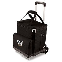 Picnic Time Milwaukee Brewers Cellar Insulated Wine Cooler & Hand Cart