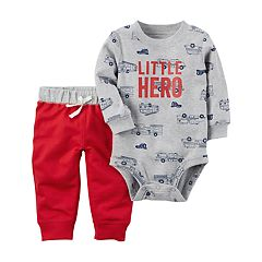 Baby Boy Carter's 'Little Hero' Fire Truck Bodysuit & Pants Set