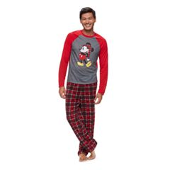 Disney's Mickey Mouse Men's Top & Microfleece Bottoms Pajama Set by Jammies For Your Families