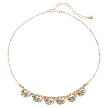 LC Lauren Conrad Flower Stone Cluster Necklace
