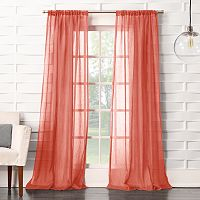 No918 Lourdes Crushed Sheer Window Curtain