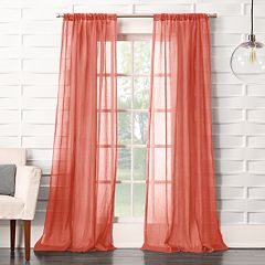 No 918 1-Panel Lourdes Crushed Sheer Window Curtain