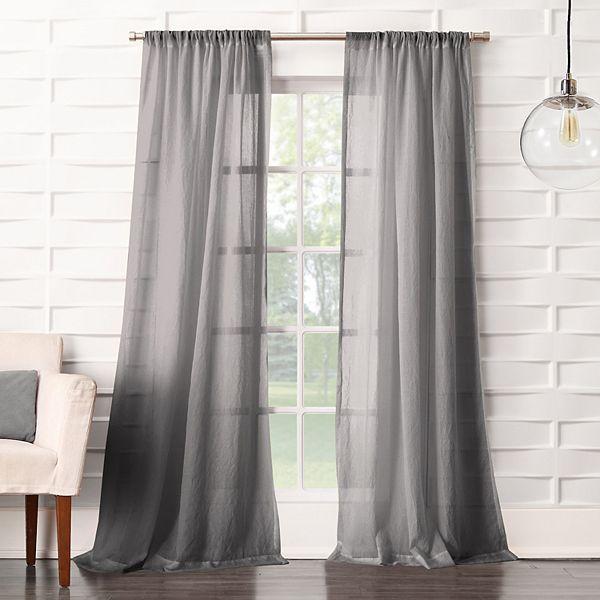 Panel Lourdes Crushed Sheer Window Curtain
