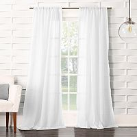 No918 Lourdes Crushed Sheer Curtain