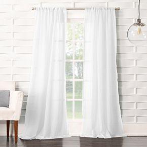 No 918 1-Panel Lourdes Crushed Sheer Window Curtain