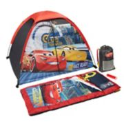 Disney / Pixar Cars 3 Lightning McQueen & Cruz Tent, Sleeping Bag, Backpack & Flashlight Set by Exxel Outdoors