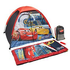 Disney / Pixar Cars 3 Lightning McQueen & Cruz Tent, Sleeping Bag, Backpack & Flashlight Set by Exxel Outdoors