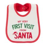"Baby Carter's ""My Very First Visit From Santa"" Bib"