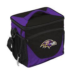 Logo Brand Baltimore Ravens 24-Can Cooler