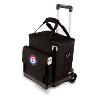 Picnic Time Texas Rangers Cellar Insulated Wine Cooler & Hand Cart