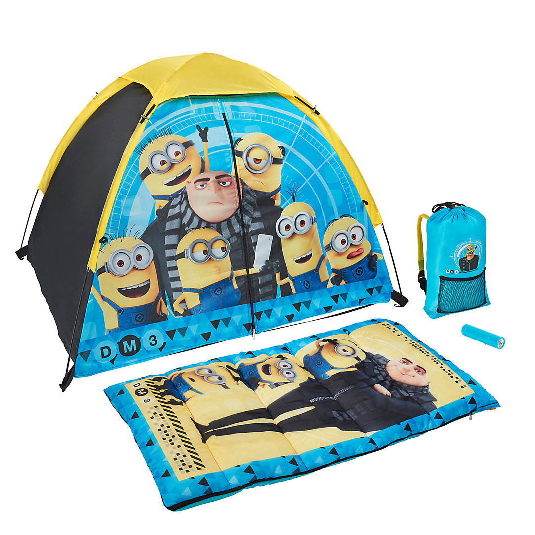Sensational Despicable Me Minions Tent Sleeping Bag Backpack Bralicious Painted Fabric Chair Ideas Braliciousco