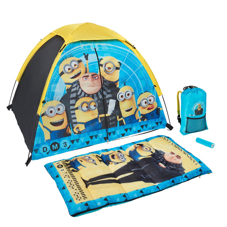 Despicable Me Minions Tent Sleeping Bag Backpack u0026 Flashlight Set by Exxel Outdoors  sc 1 st  Kohlu0027s & Despicable Me Minions Tent Sleeping Bag Backpack u0026 Flashlight Set ...