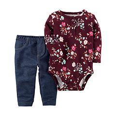 Baby Girl Carter's Floral Bodysuit & Jeggings Set