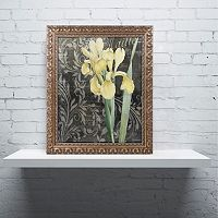 Trademark Fine Art Ode To Yellow Flowers Ornate Framed Wall Art