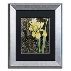 Trademark Fine Art Ode To Yellow Flowers Silver Finish Framed Wall Art