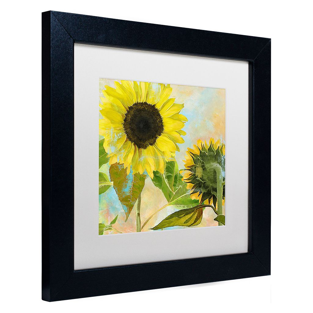 Trademark Fine Art Soleil I Black Framed Wall Art