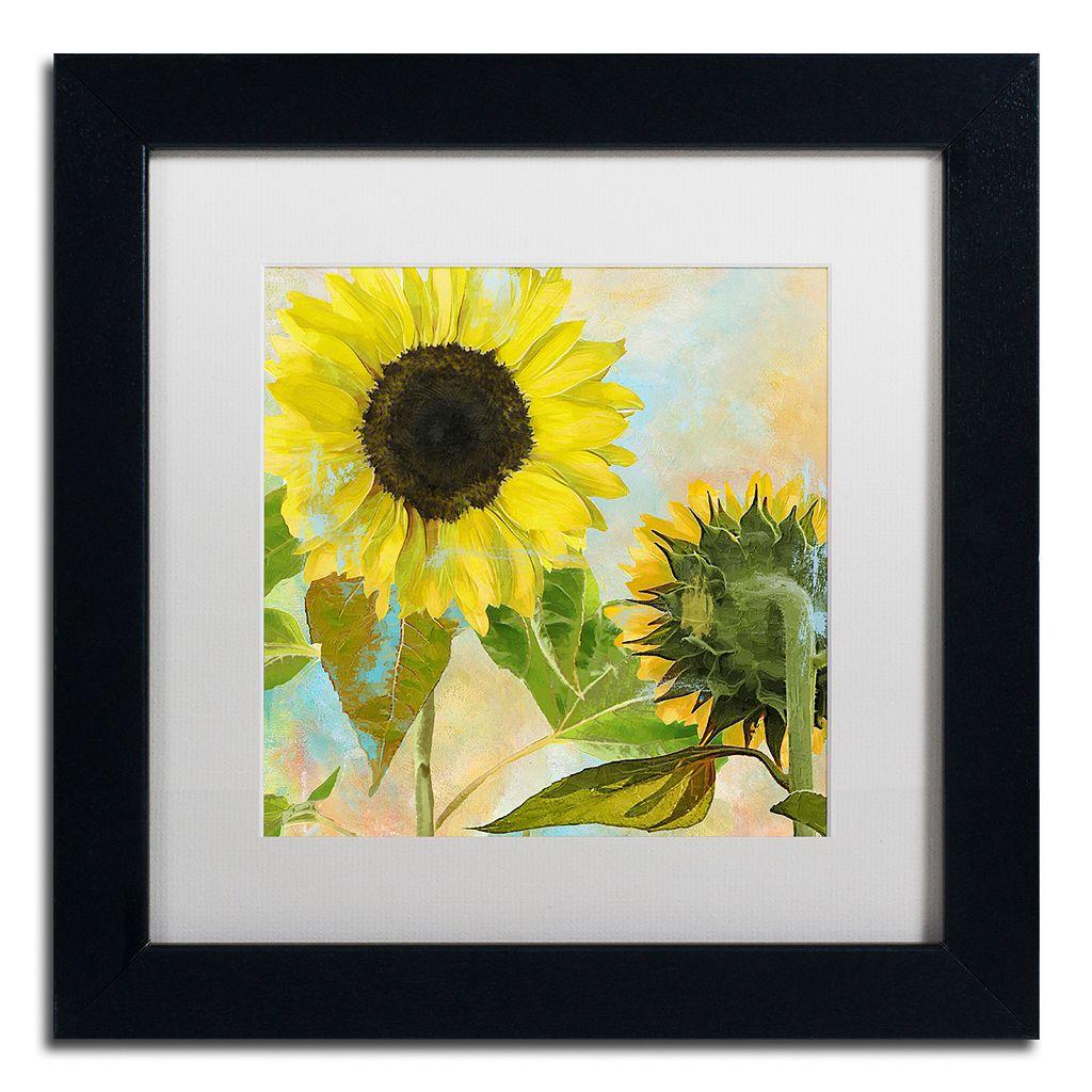 Trademark Fine Art Soleil I Black Framed Wall Art