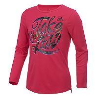Girls 7-16 adidas Long Sleeve Shine Graphic Tee
