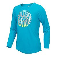 Girls 7-16 adidas Long Sleeve Shine Graphic Tee