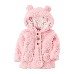 Baby Girl Carter's Pink 3D Sherpa Jacket