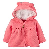 Baby Girl Carter's Pink 3D Hood Quilted Jacket