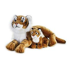 National Geographic Tiger with Baby Plush by Lelly