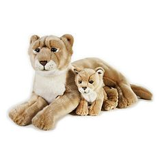 National Geographic Lioness with Baby Plush by Lelly