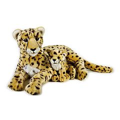 National Geographic Cheetah with Baby Plush by Lelly