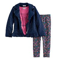 Girls 4-6x Little Lass Moto Jacket,