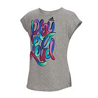 Girls 7-16 adidas Short Sleeve Heart & Hustle Tee