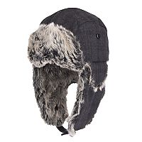 Men's Dockers® Plaid Wool-Blend Faux-Fur Trapper Hat