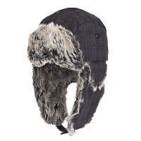 Men's Dockers® Plaid Wool-Blend Faux-Fur Trapper Hat