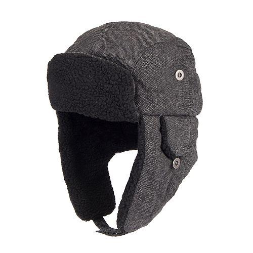 2f38017942f21 Men s Dockers® Wool-Blend Sherpa-Lined Trapper Hat